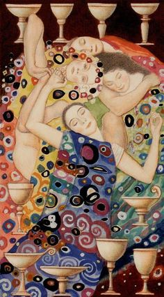 Tarot de Klimt par A. Atanassov 10 de coupes