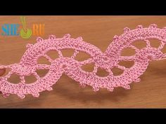 ▶ Crochet Lace Stitch Tape Tutorial 6 part 1 of 2 Crocheted Lace - YouTube