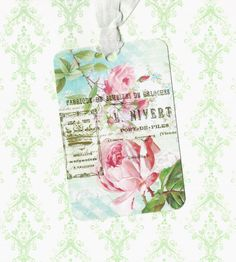 Tags, rozen Gift Tags, Vintage Style, Gift Tags