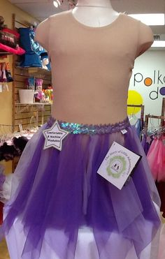 Sequin Band Tutu in Purple: $14.99. For more information or to check size or availability, call or email Polka Dots. 916-791-4496. polkadotsproshop@gmail.com
