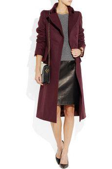 Alexander McQueenwool and cashmere-blend felt coat