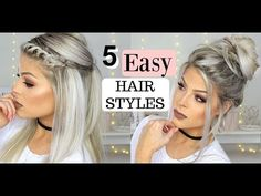 Braided Hairstyles: The Top Braided Styles – Stylish Hairstyles Easy Hairstyles For Long Hair, Teen Hairstyles, Pretty Hairstyles, Braided Hairstyles, Hairstyle Ideas, Hairdos, Hair Ideas, Braid Styles, Short Hair Styles