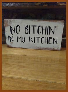 Kitchen sign rustic home decor hand made farmhouse primitive humor funny chic - . Kitchen sign rustic home decor hand made farmhouse primitive humor funny chic - Diy Home Decor Rustic, Handmade Home Decor, Home Decor Kitchen, Kitchen Ideas, Kitchen Decor Signs, Rustic Kitchen Decor, Primitive Kitchen, Funny Kitchen Signs, Decorating Kitchen