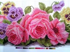 Ukrainian-Embroidery-Beadwork-Belt-CORSET-DIY-Beads-Rose-Viola-Flowers-Pink-New