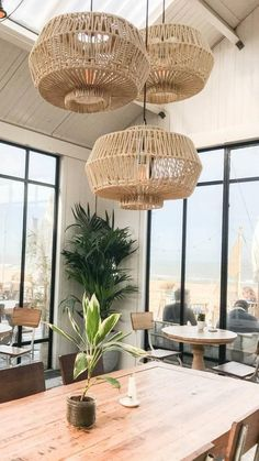 Home Decor Accessories, Boho Lighting, Cheap Home Decor, Modern Farmhouse Living Room, Wicker Pendant Light, Coastal Interiors, Rattan Pendant Light, Home Decor, House Interior
