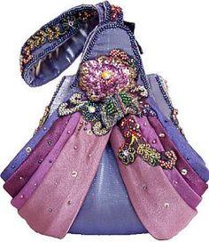 mary frances handbags   Mary Frances Designer Handbag 'Indigo Indulgence' New + Dustbag