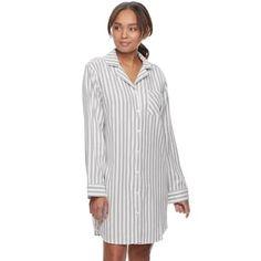 f7864ae36415 Women s SONOMA Goods for Life™ Pajamas  Button Down Flannel Sleep Shirt Women s  Sleep Shirts