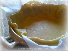 Pasta per quiche e torte salate , veloce e pratica quando non si vuole sporcare il mixer...  La ricetta l'ho trovata qui ,da ''il mondo di A...