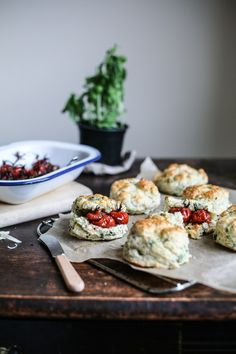Cheddar & Herb Scones with Balsamic Roasted Tomatoes | Daisy and the Fox