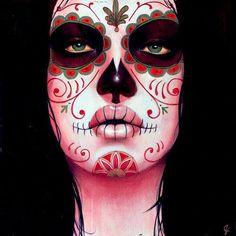 Sylvia Ji painting 2007.....i always loved those death masks