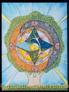 Tree of Compassion Tree Of Life Art, Tree Art, Artistic Tree, Mystic Symbols, Expressive Art, Gods And Goddesses, Mandala Art, Mother Earth, Doodle Art