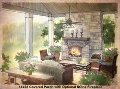 Porches and Sunrooms Home Plan - Earnhardt Collection™ by Schumacher Homes