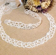 Tatting lace bracelet / necklace pdf pattern Rose