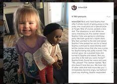 Myyjä+kyseenalaisti+pikkutytön+nukkevalinnan+nuken+värin+takia+–+tyttö+laittoi+myyjälle+jauhot+suuhun