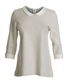 I discovered this Silk Collar Sweatshirt Top on Keep. View it now.