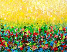 NATURES LIVING ROOM Beautiful Fine Art Print by EbiEmporium, $28.00 Colorful Floral Fields Abstract, Modern Home Decor Dorm Room Wall Art, Rainbow Fields Wall Art, Affordable Print, Abstract Painting, Acrylic Painting, Bold Colors, Bright Colors, Home Decor, Nature, Natural Beauty, Wildflowers, Sunny Day, Impressionism, Lemon, Sunshine Yellow, Kelly Green, Magenta Pink, Crimson Red, Royal Blue, Vibrant, Wall Art, Lovely, Elegant Imaginative