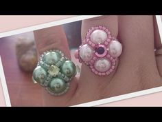 Madame Beaded Ring Beading Tutorial by HoneyBeads - YouTube
