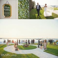 Cocktail Hour at a Late Summer Belle Mer wedding ©Snap Weddings
