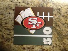 50th birthday card for a 49er fan!
