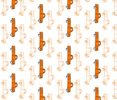 "10"" Orange Vintage Trucks fabric by shopcabin on Spoonflower - custom fabric"