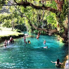The Blue Lagoon outside of Vang Vieng, Laos