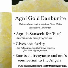 Agni Gold Danburite crystal meaning