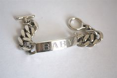 Silver Baby ID Bracelet James Colarusso