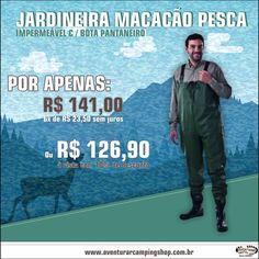 JARDINEIRA MACACÃO PESCA - Confira essa e muito mais em www.aventurarcampingshop.com.br