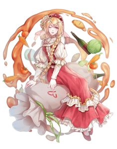 Borscht - Food Fantasy I'm so disappointed that Red Velvet/Borscht actually was Roast Turkey. But hey, we are actually getting a Borscht! Hetalia, Fantasy Characters, Female Characters, Soul Game, Borscht, Art Folder, Food Fantasy, Manga Comics, Game Character