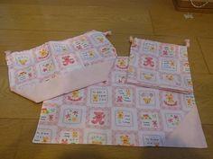 Lunch Bag ハンドメイドお弁当袋 コップ袋 マットクマ柄ピンク インテリア 雑貨 Handmade ¥800yen 〆11月06日