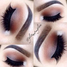 Brown Smokey Eye - Hairstyles How To Eye Makeup, Makeup Tips, Makeup Ideas, All Things Beauty, Beauty Make Up, Yves Saint Laurent, Smokey Eye For Brown Eyes, Makeup Techniques, Pretty Eyes