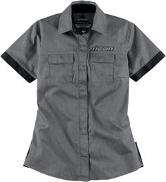 Cute Woman's Cut Icon Work Shirt.  Would look great with a pair of jeans on a summer day on the bike http://www.rideicon.com/products/?productGroupId=1986