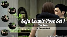 Simsworkshop: Sofa Couple Pose Set 1 by ConceptDesign97 • Sims 4 Downloads