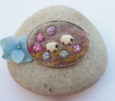 Sheep Brooch Pin by AileenClarkeCrafts on Etsy, £18.00