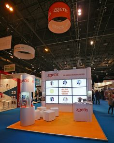 Exhibition Stand Design for Zoetis. Are you planning to exhibit? Contact us http://www.expodisplayservice.ae/contactus.asp