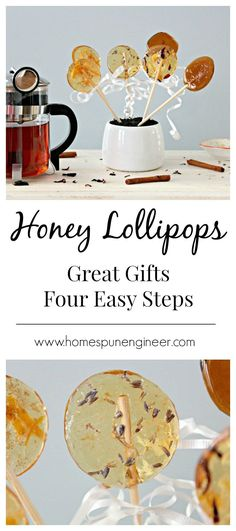 honey lollipops