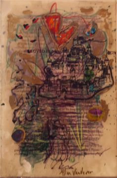 Allen Vandever; Chicago; cotemporary; new; yoga; nude; epoxy; artist; abstrac; new; collage; Chicago Artist Et52