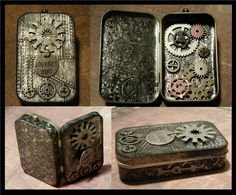 This is a steampunk designed mint tin made for a swap I am hosting on one of my yahoo groups; All Things Tim (Holtz). Once the sign...