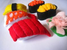 Felt food Sushi set felt sushi eco friendly di FeltFoodTruck