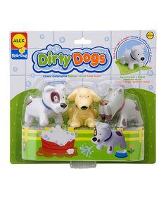This Rub-a-Dub Dirty Dog Bath Toy Set by Rub-a-Dub is perfect! #zulilyfinds