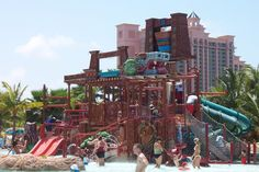 atlantis bahamas toddler activities | Splashers kids' water play. (That's The Cove in the background)