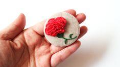 carnation hand embroidery brooch  카네이션 프랑스자수 브로치 만들기 Hand Embroidery, Slippers, Slipper, Flip Flops, Sandal