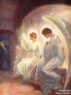 "Angels in the Empty Tomb | They asked her, ""Woman, why are you crying?"" John 20:13"