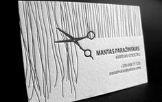 brilliant hair stylist business card