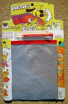 Magic slates. Wore them out fast, but could count on getting a new one every Christmas as a kid.
