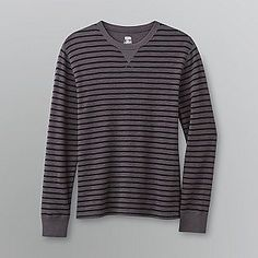 Route 66- -Men's Striped Thermal Shirt