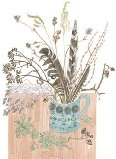 Angie Lewin print- Still Life with Mark's mug