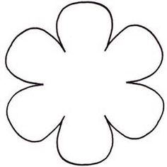 6 petal flower template - Bing Images
