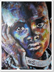 blue boy - Acryl auf Leinwand 80 x 100 cm