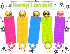 I Can Do It Stars and Smiles Potty Training Chart Template